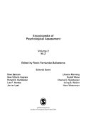 Encyclopedia Of Psychological Assessment : ...