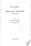 Syllabus of personal hygiene
