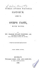 P  Ovidii Nasonis Fastorum libri VI  With notes  by C  S  Stanford  Second edition  revised  MS  notes