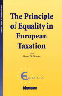 The Principle of Equality in European Taxation