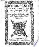 Ordonnance et edict perpetuel ... pour meilleure direction des affaires de la justice, etc. 12 July, 1611