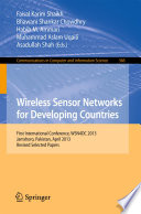 Wireless Sensor Networks For Developing Countries