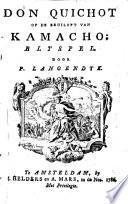 Don Quichot Op De Bruiloft Van Kamacho
