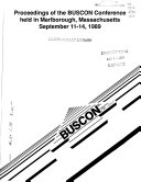 Proceedings of the BUSCON Conference