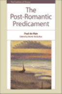 The Post Romantic Predicament Harvard University Years Published For The First
