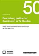 Beurteilung politischer Kandidaten in TV-Duellen