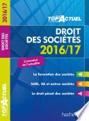 Top Actuel Droit Des Soci T S 2016 2017