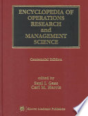 Encyclopedia Of Operations Research And Management Science : how decisions are made.
