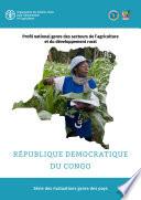 illustration du livre Profil national genre des secteurs de l'agriculture et du developpement rural au République Démocratique du Congo