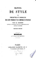 Manuel de style ou pr  ceptes et exercices sur l art d   crire et de composer en fran  ais