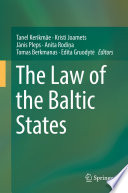 The Law Of The Baltic States book