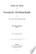 Annalen des Vereins für Nassauische Alterthumskunde und Geschichtsforschung