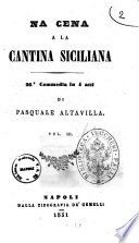 Na cena a la cantina siciliana 26  commedia in 4 atti di Pasquale Altavilla