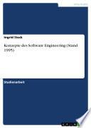 Konzepte des Software Engineering (Stand 1995)