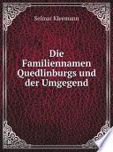 Die Familiennamen Quedlinburgs und der Umgegend
