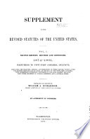 Revised Statutes of the United States  Passed at the First Session of the Forty third Congress  1873  74