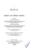 A Manual Of Ancient And Modern History