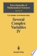 Several Complex Variables IV