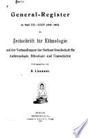 Zeitschrift f  r Ethnologie