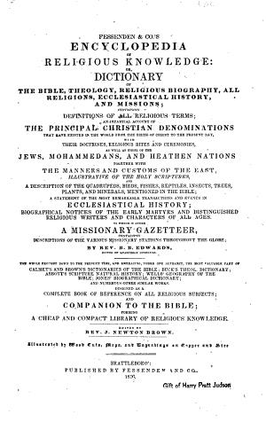Fessenden & Co.'s Encyclopedia of Religious Knowledge