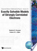 Exactly Solvable Models of Strongly Correlated Electrons