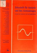 Zeitschrift für Analysis und ihre Anwendungen