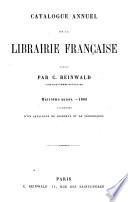 Catalogue annuel de la librairie française pour