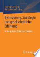 Behinderung  Soziologie und gesellschaftliche Erfahrung