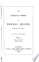 The Poetical Works of Thomas Moore  Odes of Anacreon  translated into English verse  with notes  Epigrams from the Anthologia  Juvenile poems Book PDF