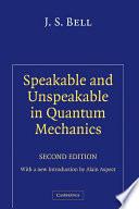 Speakable and Unspeakable in Quantum Mechanics