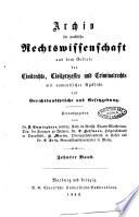 Archiv fur praktische Rechtswissenschaft