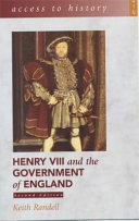 Henry VIII and the Government of England