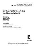 Environmental Monitoring And Remediation 3 book
