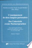 L' enseignement de deux langues partenaires