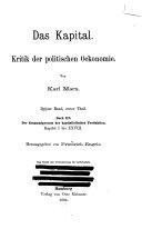 Das Kapital  Der Gesammtprocess der kapitalistischen Produktion
