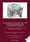 Die Abschiede der in den Jahren 1540 - 1542 in der Altmark gehaltenen ersten General-Kirchen-Visitation