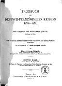 Tagebuch des Deutsch-Französischen Krieges 1870