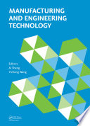 Manufacturing and Engineering Technology  ICMET 2014