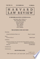 Harvard Law Review  Volume 130  Number 1   November 2016