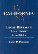 California Legal Research Handbook