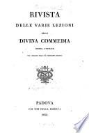 Rivista delle varie lezioni della Divina Commedia sinora avvisate col catalogo delle pi   importanti edizioni