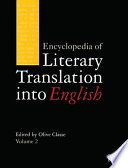 Encyclopedia of Literary Translation Into English  A L