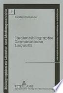 Studienbibliographie Germanistische Linguistik