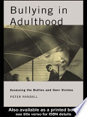 Ebook Bullying in Adulthood Epub Peter Randall Apps Read Mobile