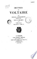 Oeuvres ed Voltaire