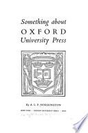 Something about Oxford University Press