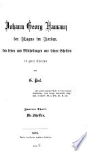 Johann Georg Hamann der Magus im Norden0