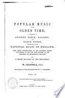 Popular Music of the Olden Time Book PDF
