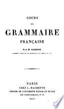 Cours de Grammaire Fran  aise
