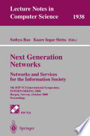 Next Generation Networks. Networks and Services for the Information Society